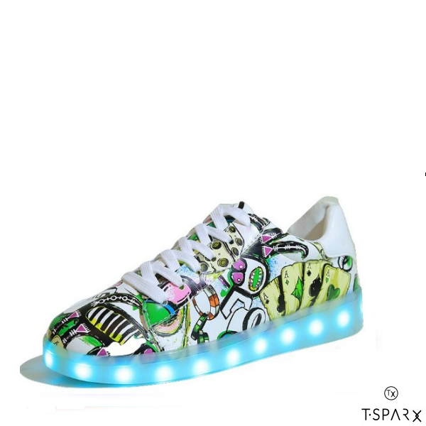 a99a4128341 £84.99 £42.99. Graffiti Artsy Low Top Led Shoes