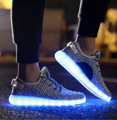 Yeezy Inspired Led Shoes Grey T Sparx Shop