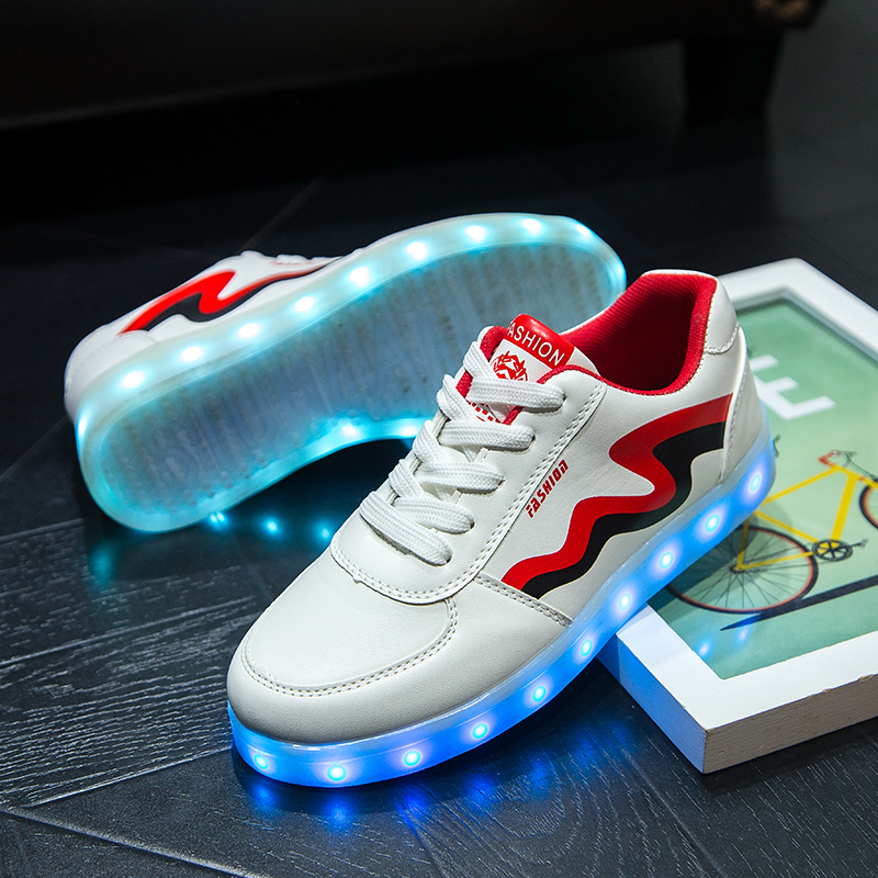 9eb2186a3 £65.99 £35.99. LED Light Up Signature White Low Top Canvas Shoes by T- Sparx